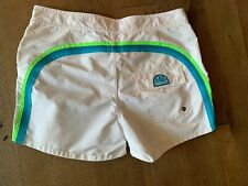 NWOT Sundek Mens 32 White Nylon Board Shorts Swim Trunks