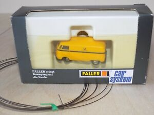 Faller car system VW Bus 1635, HO scale Volkswagen Deutsche Post with wire roll