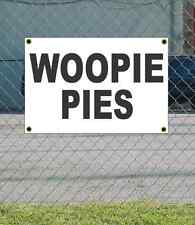 2x3 WOOPIE PIES Black & White Banner Sign NEW Discount Size & Price FREE SHIP