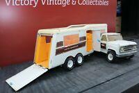 "Tonka Toys XR-101 Pickup Truck w/ ""Fifth Wheeler"" Camper - Pressed Steel"