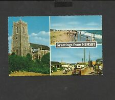 Vintage Constance Colour Postcard Greetings from Hemsby Norfolk posted 1973