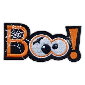 Scary patch - BOO! Halloween Embroidered PATCH/BADGE
