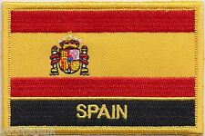Spain State Flag Embroidered Patch Badge - Sew or Iron on