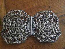 More details for antique silver nurses buckle, birmingham 1899