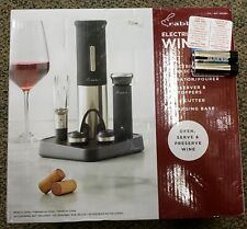 New listing Rabbit Electric Wine Set Corkscrew Aerator/Pourer Preserver & 2 Stoppers Cutter