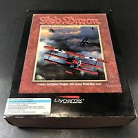"""Red Baron PC Computer Game Dynamix 3.5""""disc & 5.25"""" Floppy Disc 1990 *UNTESTED*"""