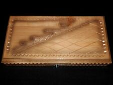 Brand New Handmade Wooden Hand Carved Backgammon 40cm / 15.75""