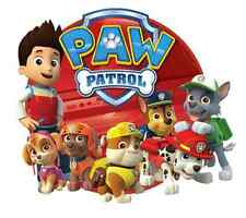 "Paw Patrol Iron On Transfer 5""x5.75"" for LIGHT Colored Fabric"