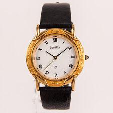 ZentRa Armbanduhr Edelstahl Gold römisches Ziffernblatt - aus Pfandversteigerung