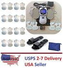 TENS Unit Tens Massager Digital Therapy Acupuncture Pads Machine 2 outputs Shoes