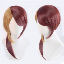 Houseki no Kuni Rutile Doctor Dark Red And Yellow Styled Cosplay Hair Wig + Cap