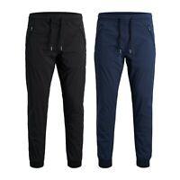 Jack & Jones Mens Cuffed Trousers Elasticated Waist Sports Gym Joggers Pants