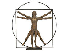 Leonardo da Vinci Sculpture L'homme de Vitruve -m- Parastone Musée Dav03