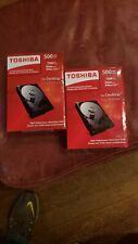 QTY.2 Toshiba Internal Hard Disk Drive 500GB P300 SATA  Brand new