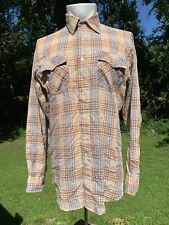 vtg 70s 80s Plaid Shirt Country Touch Sportswear Soft Thin Med