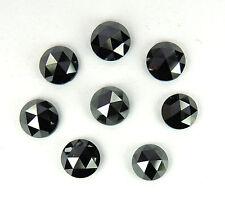 Natural Loose Diamond Round Rose Cut I3 Clarity Jet Black Color 6.00MM 1 Pcs Q23