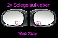 2x Hello Kitty Spiegel Auto Aufkleber Sticker 4,5cm x 4,5cm Fun Tankdeckel