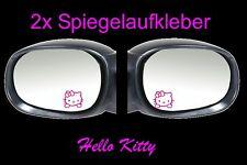 2x Hello Kitty Rétroviseur Autocollant Voiture 4,5cm x 4,5cm Fun