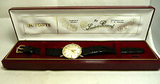 SUPER GREAT 14K GOLD TOP STAINLESS STEEL BACK BOXED LUCIEN PICCARD AUTO WATCH