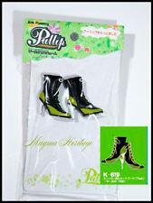 Free Shipping!  Pullip shoes Jun Planning Black Green Heels Boots K619