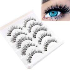 Cheap!5-Pair Soft Makeup False Eyelashes Long Thick Natural Eye Lashes Extension