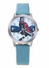 Reloj de Pulsera Niños Spiderman Reloj de Pulsera Analógico Correa de Cuero Hombre Araña Azul Slim