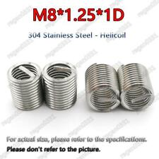 100pcs M8x1.25x1D Metric Helicoil Screw Thread Wire Inserts 304 Stainless Steel