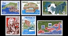 Monaco Scott 1107-1108, 1109, 1110, 1111-1112 (1978) Mint NH VF