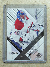 16-17 UD SPGU SP Game Used True Authentic RC Rookie CHARLIE LINDGREN /40
