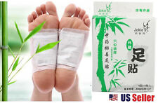 10 PCS Pro Healthy Bamboo Charcoal Foot Pad Patch Detoxify Toxins Adhesive NEW
