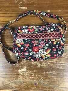 Vera Bradley Crossbody Handbag Black Floral