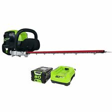 GreenWorks GHT80321 80V 26-Inch Cordless Hedge Trimmer with Battery & Charger