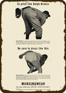 1946 MUNSINGWEAR MEN'S UNDERWEAR Vintage Look DECORATIVE METAL SIGN - RALPH BRAN