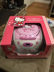 Hello Kitty KT2028B Stereo CD/Cassette Player Radio Boombox (NEW)