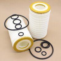 2 Pack Genuine OEM Mann Filter HU718/5x Oil Filter Fleece For Mercedes Benz W202