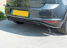 VW Golf MK7 7 GTI Style Lower Rear Bumper Spoiler Lip Sport Valance Diffuser GT.