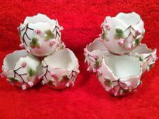 Rare Pair of Antique German Porcelain Rose Buds Egg  Vases c1888-1901, p190