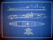 Vintage 1905 Racing Speed Boat Marblehead Yacht Blueprint Plan 16x22  (138)