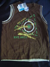 BNWT BOYS SIZE 4 MUSCLE TOPS SLEEVELESS TSHIRTS x 2 ~ NEW