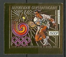 CENTRAFRIQUE JEUX OLYMPIQUES OLYMPICS GAMES NON DENTELE IMPERF ** 1988 OR GOLD