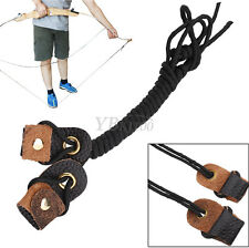 Black Leather Archery Recurve Bow String Long Bow Stringer Rope Tool 2M/78.74""