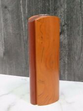 Mid Century Danish Style Hand Made Wood Bud Vase Chameroy Woodworking Colorado