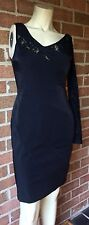 Suzi Chin for Maggy Boutique Long Sleeve One Shoulder Lace Dress Black Size 6