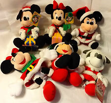 Choose One~ One Minnie or Mickey  X'mas Plush from Japan-ship free