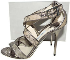 Jimmy Choo LOTTIE Lace Light Honey Crisscross Sandal Slingback Heel Shoe 39 -8.5
