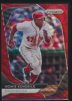 2020 Panini Prizm Red Wave Prizm Parallel #11 Howie Kendrick 67/99 Nationals