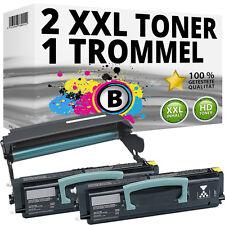 2x Toner+Fotoleiter für LEXMARK Optra E260D E260DN E360D E360DN E460DN E460DW