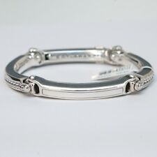 New DAVID YURMAN Men's Silver Universal Bolt Link Bracelet Medium $750