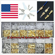 540X Assortment Terminals Set Electrical Wire Crimp Connectors Male Female Spade