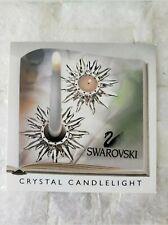 "Swarovski 5"" 12cm Signed $350R Solaris Sun Tealight Taper Candle Holder"